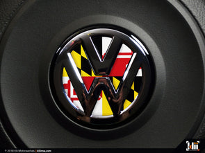 VW Steering Wheel Badge Insert - Maryland Flag