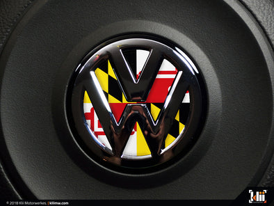 Klii Motorwerkes VW Steering Wheel Badge Insert - Maryland Flag