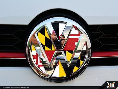 VW Front Badge Insert - Maryland Flag