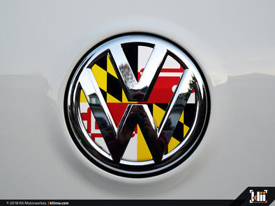 Klii Motorwerkes VW Rear Badge Insert - Maryland Flag