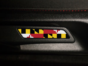 VW Seat Lever Insert Set - Maryland Flag