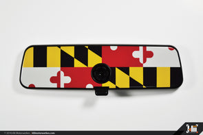 Klii Motorwerkes VW Rear View Mirror Overlay - Maryland Flag