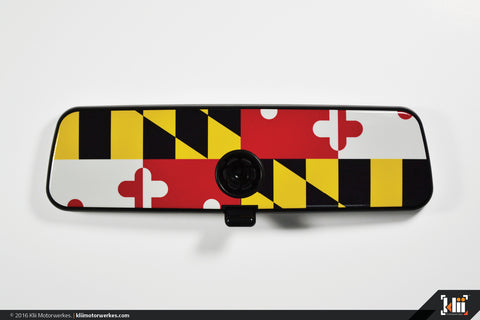 VW Rear View Mirror Overlay - Maryland Flag