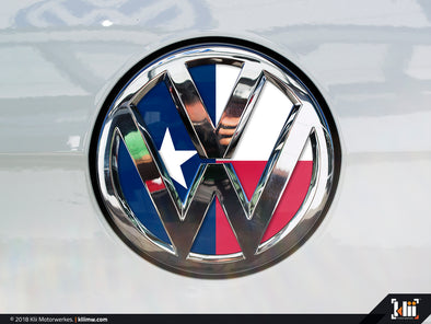 VW Rear Badge Insert - Texas Flag