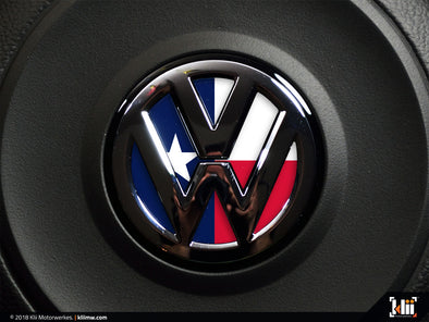 VW Steering Wheel Badge Insert - Texas Flag