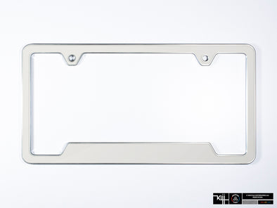 Premium License Plate Frame - Candy White