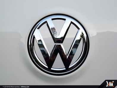 VW Rear Badge Insert - Candy White
