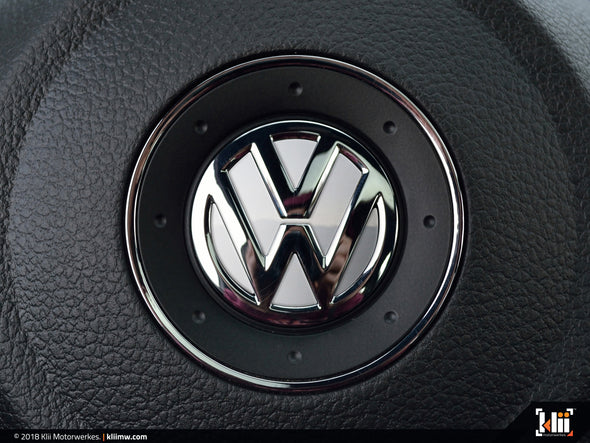 VW Steering Wheel Badge Insert - Candy White