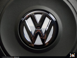 VW Steering Wheel Badge Insert - Pure White