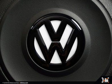 VW Steering Wheel Badge Insert - Oryx White Pearl