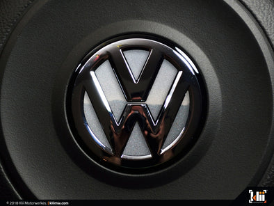 VW Steering Wheel Badge Insert - Reflex Silver Metallic