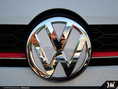 VW Front Badge Insert - Reflex Silver Metallic