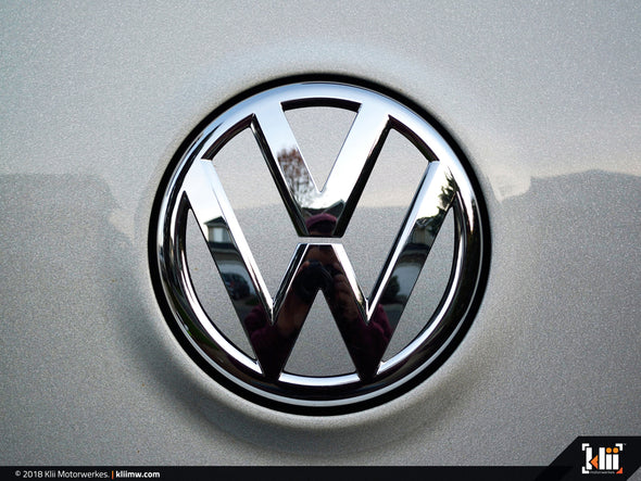 VW Rear Badge Insert - Reflex Silver Metallic