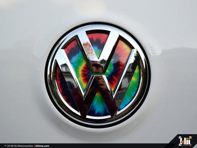 Klii Motorwerkes VW Rear Badge Insert - Tie-Dye