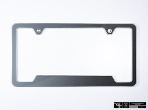 VW Volkswagen Premium License Plate Frame - Platinum Gray Metallic (Silver)