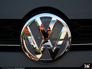 VW Front Badge Insert - Platinum Gray Metallic