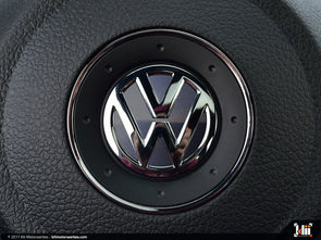 VW Steering Wheel Badge Insert - Platinum Gray Metallic