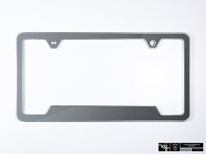 VW Volkswagen Premium License Plate Frame - United Gray Metallic (Silver)