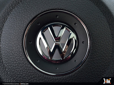VW Steering Wheel Badge Insert - United Gray Metallic