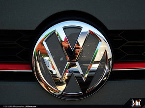 VW Front Badge Insert - Carbon Steel Gray Metallic