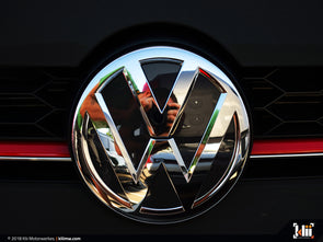VW Front Badge Insert - Deep Black Pearl Metallic