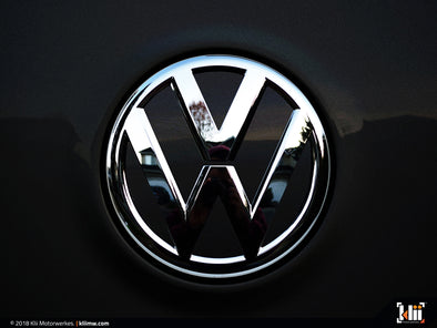 VW Rear Badge Insert - Deep Black Pearl Metallic