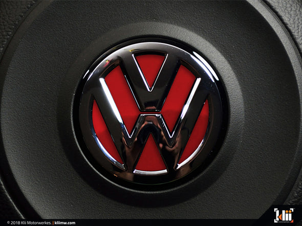 VW Steering Wheel Badge Insert - Tornado Red