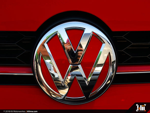 VW Front Badge Insert - Tornado Red