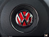 Klii Motorwerkes VW Steering Wheel Badge Insert - Tornado Red