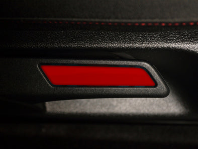 Seat Lever Inlay - Tornado Red