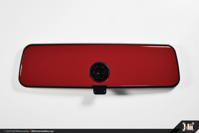 VW Rear View Mirror Overlay - Tornado Red