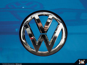VW Rear Badge Insert - Silk Blue Metallic