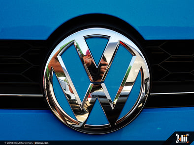 VW Front Badge Insert - Silk Blue Metallic