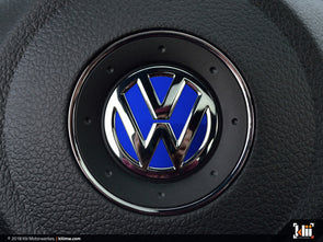 VW Steering Wheel Badge Insert - Deep Blue Pearl Metallic