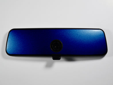 VW Rear View Mirror Overlay - Shadow Blue Metallic