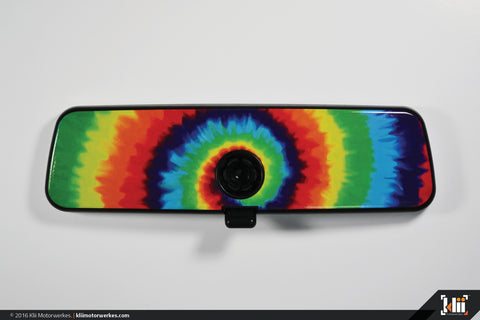 VW Rear View Mirror Overlay - Tie-Dye