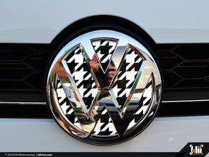 VW Front Badge Insert - Houndstooth