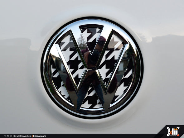 Klii Motorwerkes VW Rear Badge Insert - Houndstooth