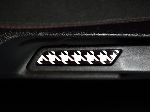 VW Seat Lever Insert Set - Houndstooth