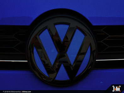 VW Front Badge Insert - Lapiz Blue Metallic