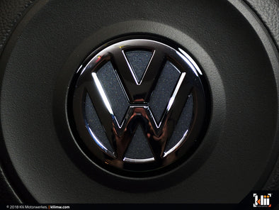 VW Steering Wheel Badge Insert - Dark Iron Blue Metallic