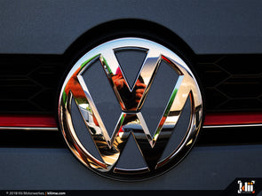 VW Front Badge Insert - Dark Iron Blue Metallic