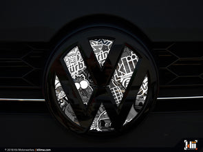 VW Front Badge Insert - Stickerbomb Noir