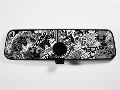 VW Rear View Mirror Overlay - Stickerbomb Noir