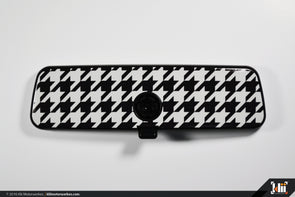 Klii Motorwerkes VW Rear View Mirror Overlay - Houndstooth