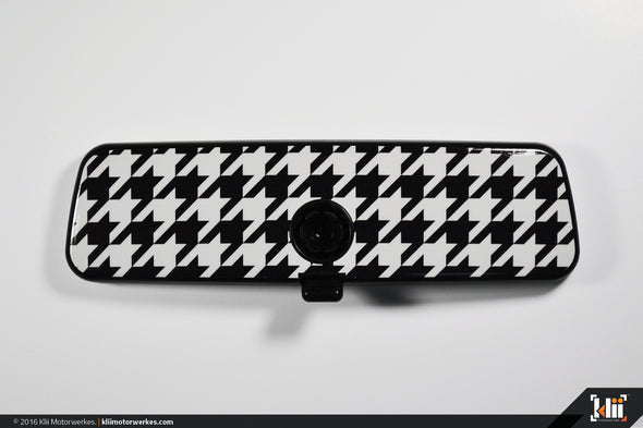 VW Rear View Mirror Overlay - Houndstooth
