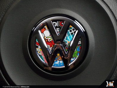 VW Steering Wheel Badge Insert - Stickerbomb