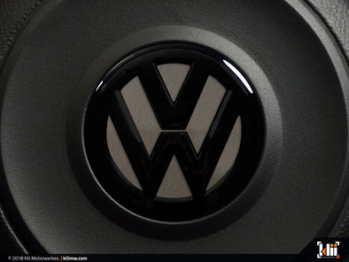 VW Steering Wheel Badge Insert - Limestone Gray Metallic