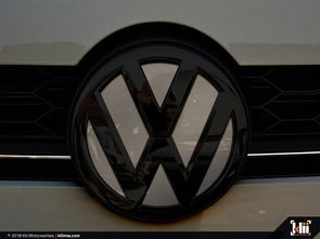 VW Front Badge Insert - Limestone Gray Metallic