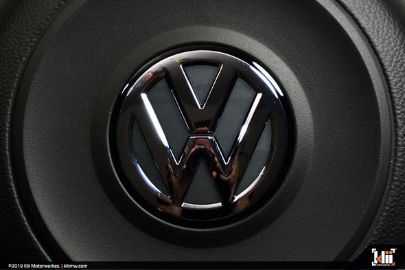 Klii Motorwerkes VW Steering Wheel Badge Insert - Indium Gray Metallic